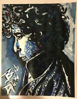 Acrylic Painting of Bob Dylan by artist Mark Robinson original