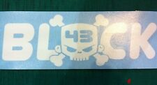Block 43 Hoonigan 200mm Car Sticker White Decal DC Shoes VW JDM