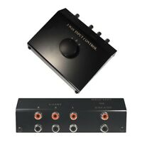 Cinch Audio Verteiler Splitter Umschalter Umschaltbox Schalter Switch 3 IN 1 OUT