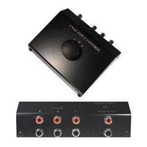 Cinch Audio Verteiler Splitter Umschalter Umschaltbox Schalter Switch 3 IN 1 OUT