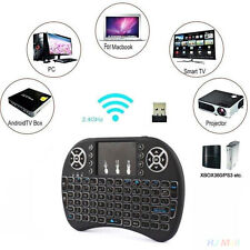 Portable i8+2.4G With Backlight Wireless Keyboard For Smart TV Android PC PS4