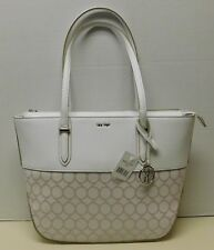 "Nine West White & Pink Jacquard Monogram Shoulder Bag Handbag Tote Purse ""NWT"""