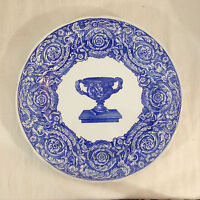 Spode Blue Room Collection Dinner Plate - WARWICK VASE - Scalloped Edge