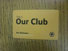 circa 2000's Wolverhampton Wanderers: Gold - Access/Loyalty/Club shop/Ticket - C