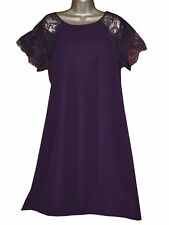 Plus Size Chiffon Knee Length Dresses without Pattern for Women