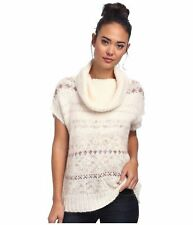 $128.00 New Women's sz S Free People Cowl Neck Pull Over Sleeveless Sweater