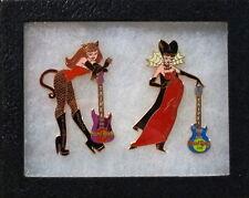 Hard Rock Cafe TAIPEI 2000 HALLOWEEN 2 PIN Boxed Set Catwoman & Vampiress #9636