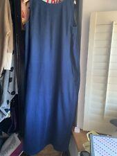 Toast Noele Cotton Jersey Dress Washed Indigo Blue Size 16