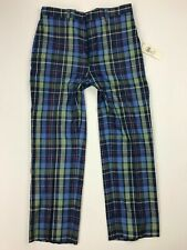 NWT Vintage Men Pendleton Country Traditionals Plaid Pants Size 34x30 Blue/Green