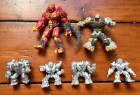 Bundle of 7 Gormiti Preziosi Figures - Rare Silver Figures + Big Figures