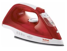 Tefal Fv1533 Access Easy Gliding Ceramic 2100W Electric Tubro Steam Iron Red New