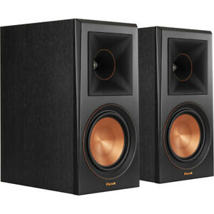 Klipsch RP-600M Reference Premiere Bookshelf Speakers Ebony Cinema Stereo Sound