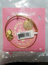 Alex and Ani Thankful Charm Bangle Bracelet Shiny Gold Finish *Brand New Nwt*