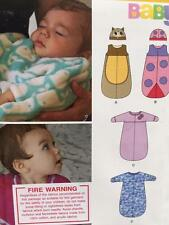 # New Look Sewing Pattern 6252 Baby Infant Sacks Hat Size NB-L New