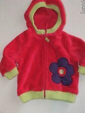 HANNA ANDERSSON marshmallow fleece jacket pink sz 70 6-12 months hoodie flower