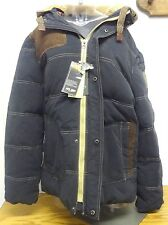 AFS Jeep Thick Down Mens Coat With Contrast Stitching & Detachable Hood SZ XXXL