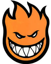 spitfire griptape. spitfire xl bighead orange sticker 11.5 in x 8 flame classic skate decal spitfire griptape