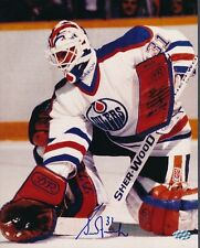 Grant Fuhr Oilers Signed 8x10 Photo Autograph Auto Mounted Memories