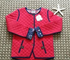 NWT HANNA ANDERSSON GIRLS RED QUILTED JACKET 130