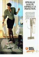 Publicité Advertising 057  1987   spir -balai sans fil aspirateur Black & Decker