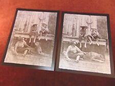2 HENDRICKSON Metal Art Prints 1970s HUCK FINN Old South COUNTRY FARM BOYS & DOG