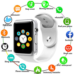 Reloj pulsera inteligente con Bluetooth compatible con Iphone Android Samsung