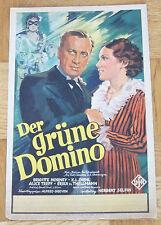 GRÜNE DOMINO (Kinoplakat / Filmplakat 1935, 24 x 37 cm) - BRIGITTE HORNEY