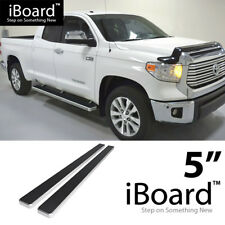 Running Board Side Step Nerf Bars 5in Silver Fit Toyota Tundra Double Cab 07-18