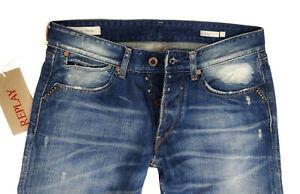 We Are Replay New Guccio Regular Slim Straight Fit Vintage Denim Jeans Herren