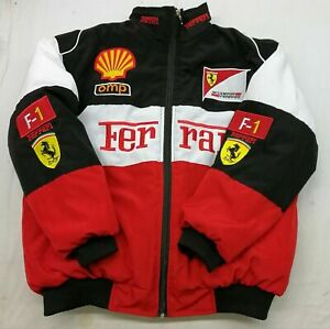 2021Hot FERRARI Red black Embroidery EXCLUSIVE JACKET suit F1 team racing UK