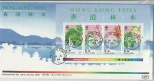 Stamps 1988 Hong Kong trees mini sheet on official first day cover