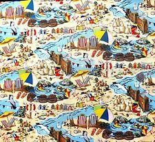 Seaside beach tumbonas casetas de playa TELA FQ 50x56 Cm nutex 11030-3 100% Algodón