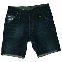 G-STAR RAW 3301 Herren Jeans Short Bermuda kurze Hose W34 Dunkelblau TOP