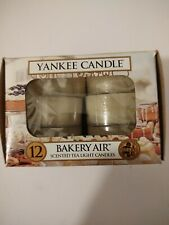 Yankee Candle 12 Scented Tea Light T/L Box Candles BAKERY AIR