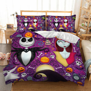 The Nightmare Before Christmas Duvet Cover Bedding Set with Pillow Cases