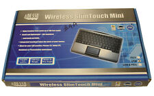 Adesso WKB-4000US SlimTouch Wireless Touchpad Mini Keyboard with USB Receiver