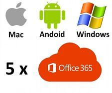 Microsoft Office 365 für Mac / Windows / Android + bis 5 Geräte + 5TB Speicher