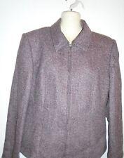 Next Brown Wool Blend Full Zip Jacket Size-12