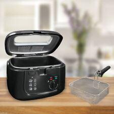NEW DEEP BLACK FAT ELECTRIC 2.5L CHIP FRYER CHIPS FRY VEG SAFE BASKET HANDLES