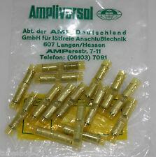 100x AMP Quetschverbinder Stossverbinder gelb 4,0-6,0mm²