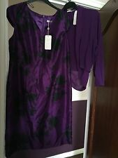 JAQUES VERT  NEW  MOTHER OF THE BRIDE  DRESS & JACKET OUTFIT SIZE 16  BNWT