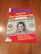 Newsweek Magazine The Confidence Gap September 21 1981 Ronald Reagan