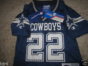 Emmitt Smith #22 Dallas Cowboys NFL Jersey Toddler 2T NEW NWT