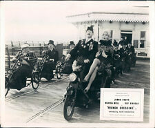 FRENCH DRESSING ORIGINAL LOBBY CARD MARISA MELL ROY KINNEAR ON PIER MOTORCYCLES