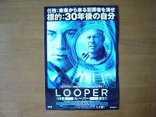 Looper  movie mini poster chirashi  Japanese