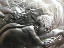 1.3-OZ .925 SILVER COIN GENIUS OF MICHELANGELO PROOF COIN+ GOLD (TADDEI TONDO)