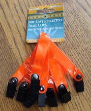 10 Heavy Plastic Do All Outdoors Reflective Trail Marker Clips BRIGHT ORANGE