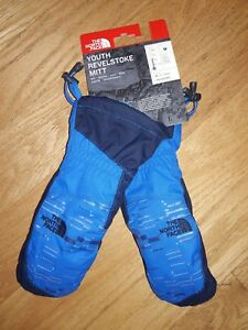 The North Face Youth Cosmic Blue Revelstoke Mitt Mittens Ski Snow Size M or L