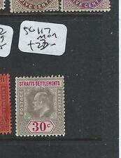 MALAYA STRAITS SETTLEMENTS (P0210B) KE 30C  SG 117  MOG