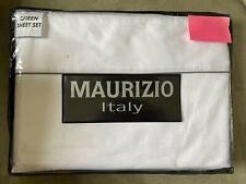 Maurizio Italy Fine Linens White Cotton Queen Sheet Set New